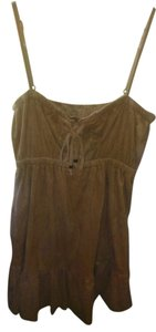 Wet Seal short dress tan suede Native American Tribal on Tradesy