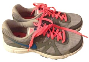 Nike Sneakers Running Neon Gray blue pink Athletic