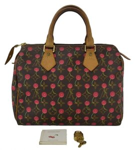 Louis Vuitton Speedy Cherry Limited Edition Tote in Brown