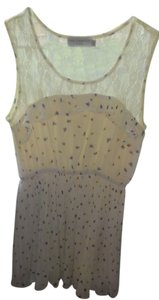Ravi Famous London short dress light yellow with purple, pink and yellow flowers on Tradesy