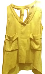 BCBGMAXAZRIA Top Sunflower Yellow