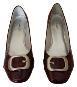 Kelly & Katie Red Burgundy Flats