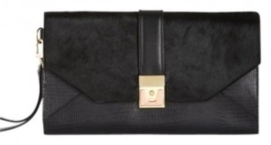 BCBGMAXAZRIA Calf Black Clutch