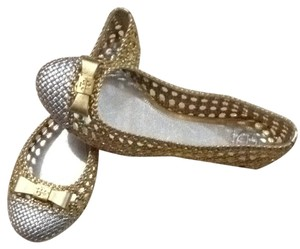 Tory Burch Gold / Silver Flats