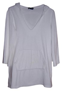 Moda International Moda International by Victoria Secret. Terry Cloth Swimsuit cover-up with hoodie. White. Size Medium.