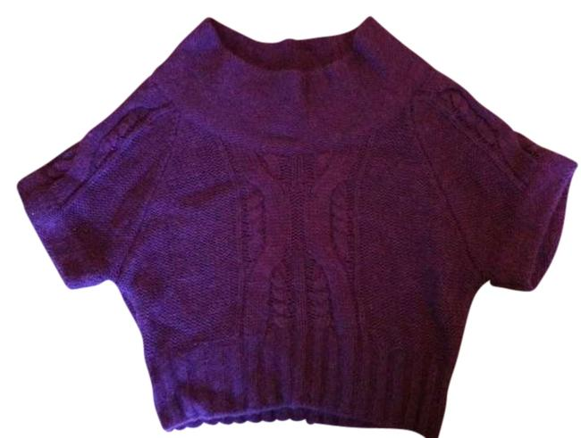 Preload https://item2.tradesy.com/images/hinge-bulky-knit-cropped-cowl-neck-purple-sweater-343801-0-0.jpg?width=400&height=650
