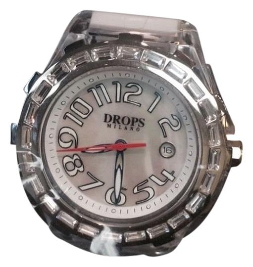 Drops Milano Drops Milano 41 Mm White Face On White Resin Strap Swarovsky Crystals Watch Image 0