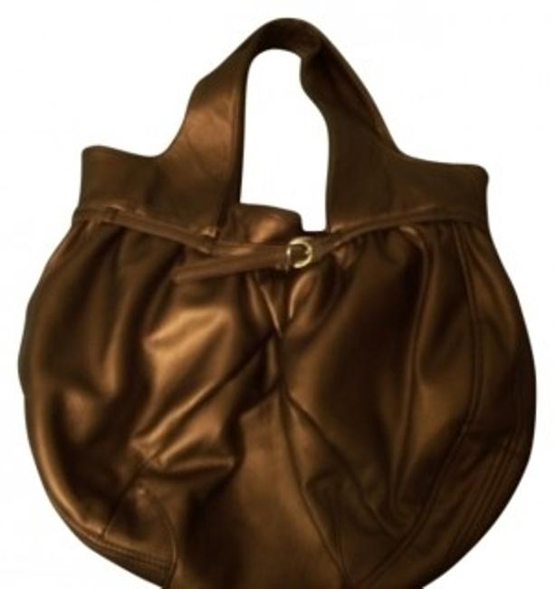 Item - Bronze Faux Leather Hobo Bag