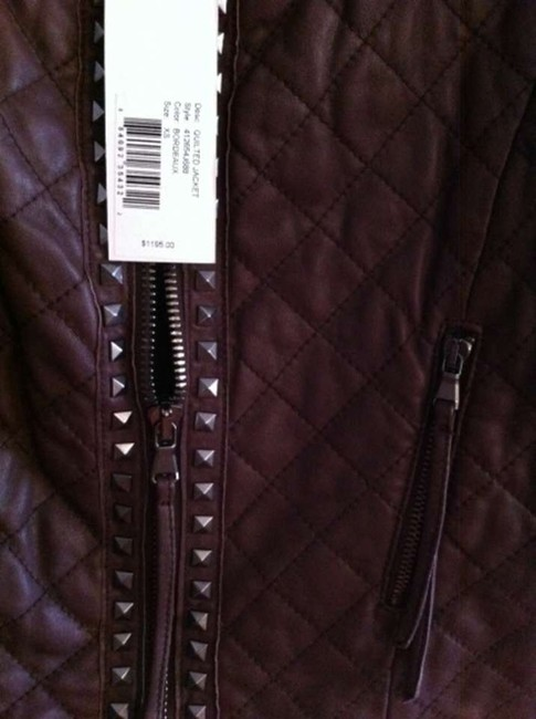Rebecca Taylor Bordeaux Leather Jacket