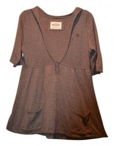 Preload https://item3.tradesy.com/images/abercrombie-and-fitch-greybrown-soft-tunic-size-12-l-34397-0-0.jpg?width=400&height=650