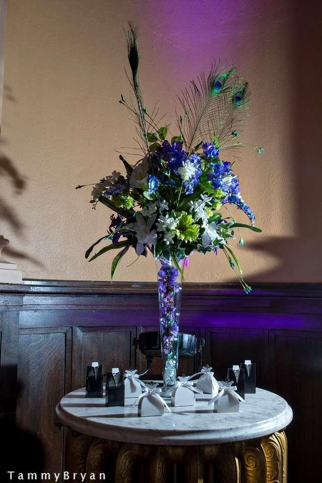 Teal And Purple Peacock Light Centerpiece Tradesy