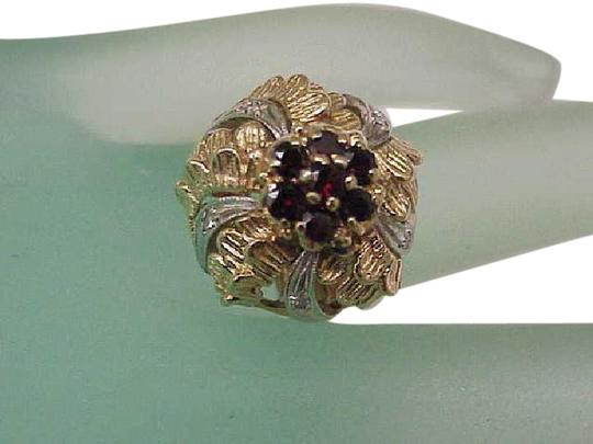 Preload https://item5.tradesy.com/images/art-deco-14k-gold-platinum-with-diamonds-and-garnets-ring-344044-0-2.jpg?width=440&height=440