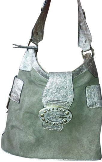 Preload https://img-static.tradesy.com/item/3440512/guess-olive-and-soft-gold-canvas-faux-osterich-hobo-bag-0-0-540-540.jpg