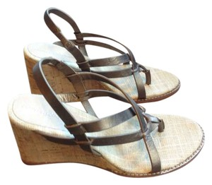 Tommy Bahama Bronze leather Wedges