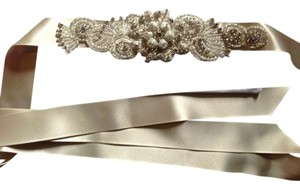 Erin Cole Bridal Couture NEVER BEEN WORN: Straight from Kleinfeld Erin Cole Bridal Crystal Belt with ivory silk tie