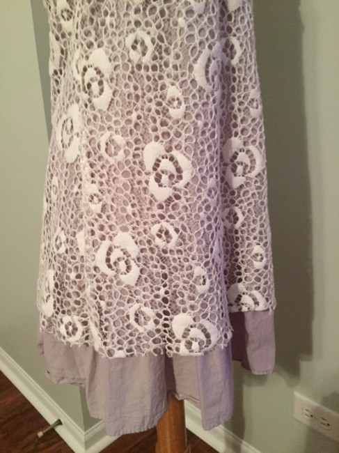 Free People short dress Gray with white lace Studs on Tradesy