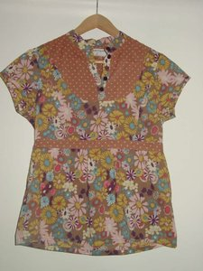 Anthropologie Top brown/yellow