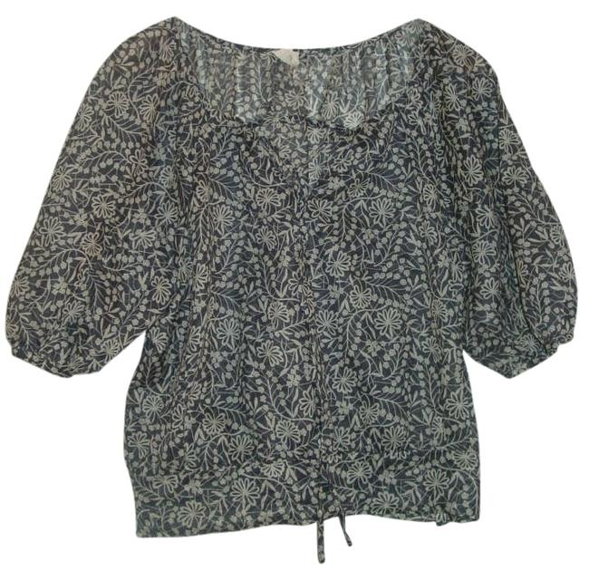 Anthropologie Top grey/white