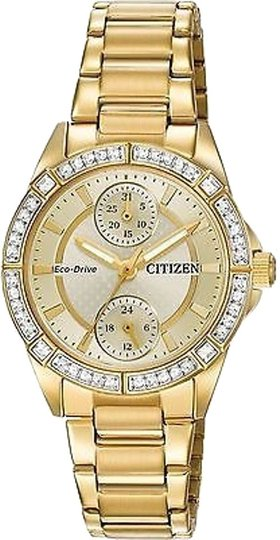 Citizen Citizen Eco-drive Pov Gold-tone Chronograph Ladies Watch Fd3002-51p