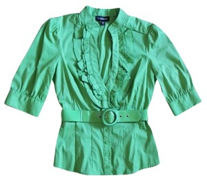 bebe Date Night Top Green