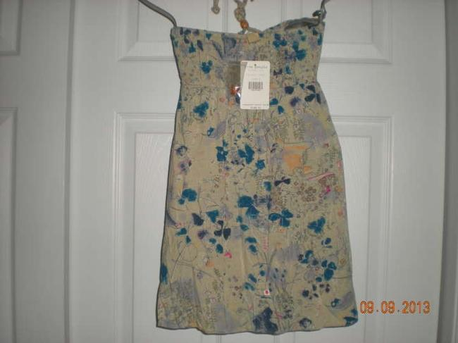 Free People Size 4 Natural Combo Halter Top
