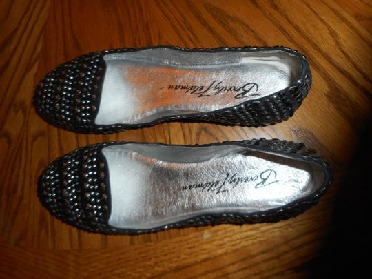 Beverly Feldman Studded Black Flats