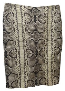 J.Crew Office Business Casual Work Wear Preppy Skirt Snakeskin