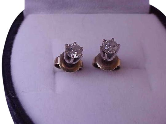 Vintage 14k white gold .50carats diamond earrings
