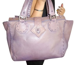 Cesare Paciotti #purple 2habdles Handbag Satchel in purple