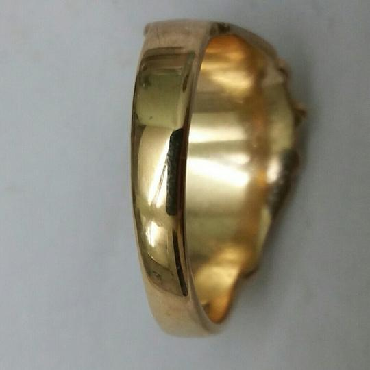 Other Estate Unique Deco Diamond Enamel 10k Yellow Gold Ring