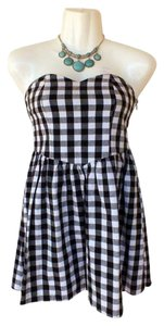 Audrey 3+1 short dress black, white Strapless Sweetheart on Tradesy