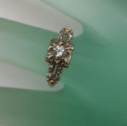 Other Art Deco .40ct Solitaire Diamond 2 Tone 14kt Gold Ring