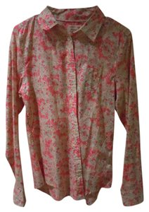 American Eagle Outfitters Button Down Shirt Pink Floral