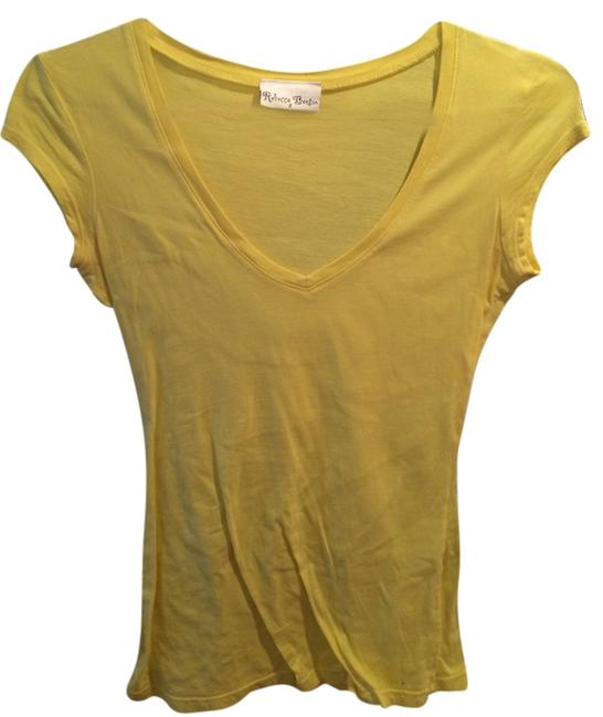 Preload https://img-static.tradesy.com/item/3444910/rebecca-beeson-yellow-v-neck-tee-shirt-size-2-xs-0-0-650-650.jpg