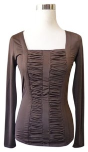 Carmen Marc Valvo Top Brown