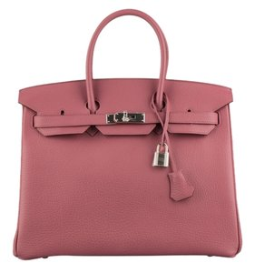 Hermès Birkin Leather Palladium Tote in Rose