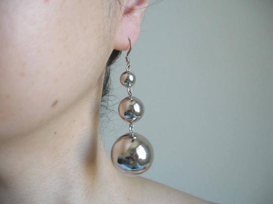 Nordstrom Triple steel bead earrings