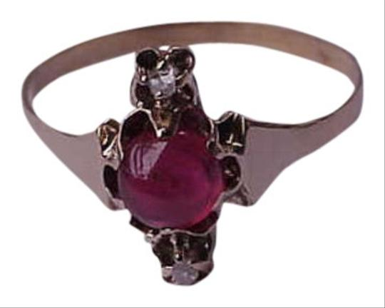 Vintage 12k gold victorian ruby and diamond ring
