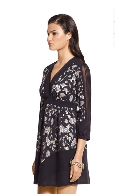 Diane von Furstenberg Fern Floral Lace Nude Evening Lbd Long Sleeve Chiffon Party Nye Dvf Tory Burch Alice Olivia Rebecca Taylor Joie Josie Dress Image 10