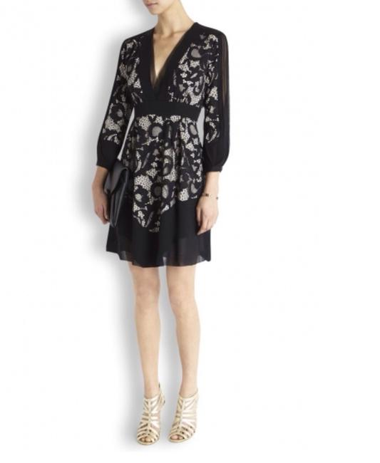 Diane von Furstenberg Fern Floral Lace Nude Evening Lbd Long Sleeve Chiffon Party Nye Dvf Tory Burch Alice Olivia Rebecca Taylor Joie Josie Dress Image 11