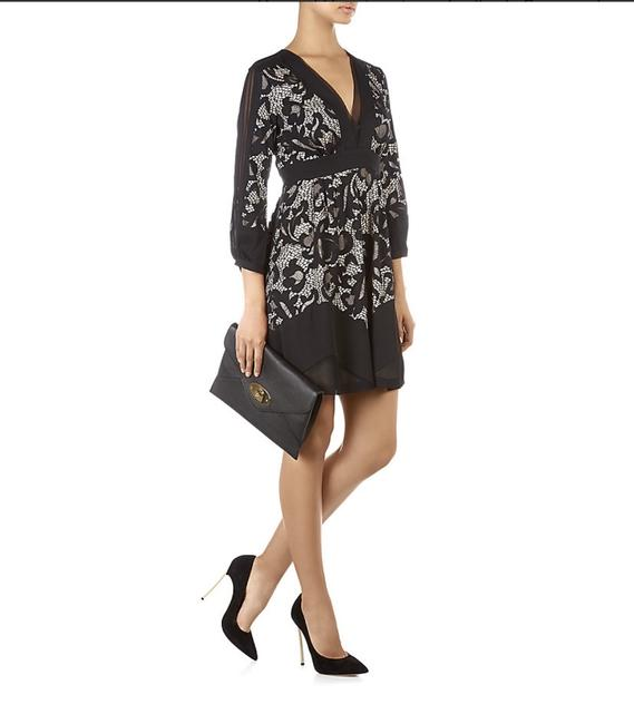 Diane von Furstenberg Fern Floral Lace Nude Evening Lbd Long Sleeve Chiffon Party Nye Dvf Tory Burch Alice Olivia Rebecca Taylor Joie Josie Dress Image 5