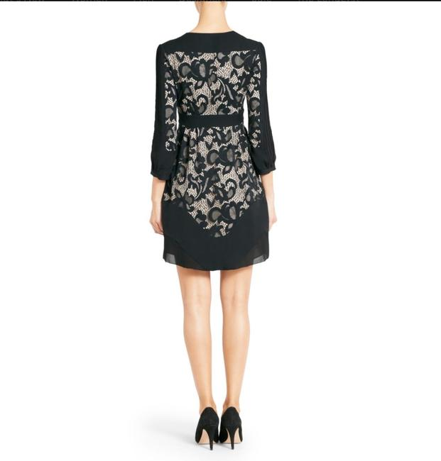Diane von Furstenberg Fern Floral Lace Nude Evening Lbd Long Sleeve Chiffon Party Nye Dvf Tory Burch Alice Olivia Rebecca Taylor Joie Josie Dress Image 7