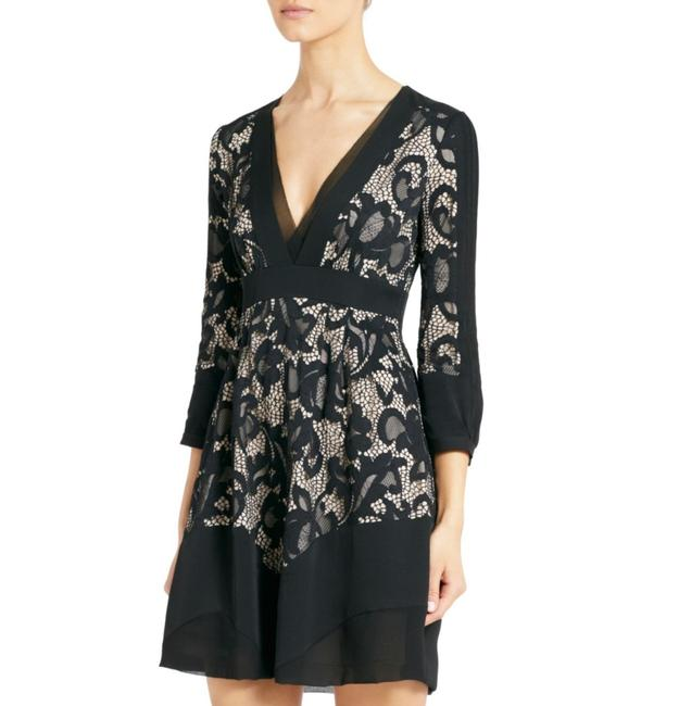 Diane von Furstenberg Fern Floral Lace Nude Evening Lbd Long Sleeve Chiffon Party Nye Dvf Tory Burch Alice Olivia Rebecca Taylor Joie Josie Dress Image 8