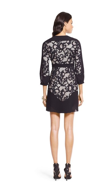 Diane von Furstenberg Fern Floral Lace Nude Evening Lbd Long Sleeve Chiffon Party Nye Dvf Tory Burch Alice Olivia Rebecca Taylor Joie Josie Dress Image 9