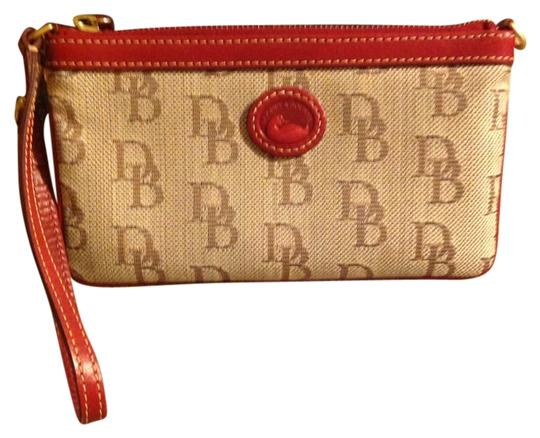 Preload https://item5.tradesy.com/images/dooney-and-bourke-light-brown-canvas-wristlet-3445399-0-0.jpg?width=440&height=440