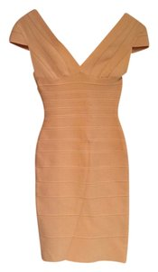 Hervé Leger Bandage Knee Length Night Out Date Night Dress