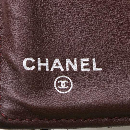 Chanel CHANEL Quilted CC Logos Bifold Long Wallet Black Leather Image 7
