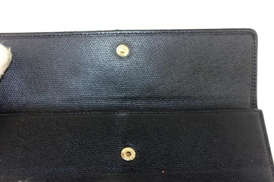 Chanel Chanel Classic CC Logo Leather Long Wallet