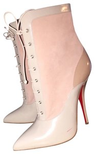Christian Louboutin Nude Jazz Leather Boots