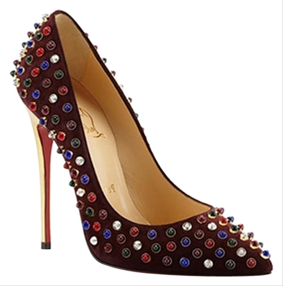 christian louboutins price - Artesur ? christian louboutin pointed-toe pumps Plum suede